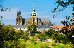 Praga, Repubblica della st Vitus Cathedral Fotografie Stock