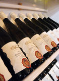 PRAGA, REPUBLIC-03 CECO 20 2017: Vino di Chardonnay fotografia stock