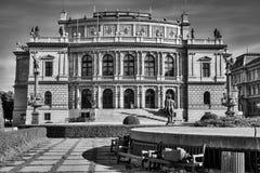 PRAGA, REPUBLIC/EUROPE CECO - 24 SETTEMBRE: Buildi di Rudolfinum Fotografie Stock Libere da Diritti