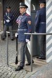 PRAGA, REPUBLIC/EUROPE CECO - 24 SETTEMBRE: Guardia in servizio a Fotografia Stock Libera da Diritti
