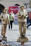PRAGA, REPUBLIC/EUROPE CECO - 24 SETTEMBRE: Statue viventi dentro Fotografia Stock