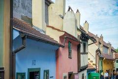 PRAGA, REPUBLIC/EUROPE CECO - 24 SETTEMBRE: Vicolo dorato in PR Immagini Stock Libere da Diritti