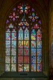 PRAGA, REPUBLIC/EUROPE CECO - 24 SETTEMBRE: Vittoria del vetro macchiato Fotografia Stock Libera da Diritti