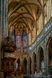 PRAGA, REPUBLIC/EUROPE CECO - 24 SETTEMBRE: Vittoria del vetro macchiato Fotografie Stock Libere da Diritti