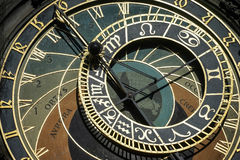 PRAGA, REPUBLIC/EUROPE CHECO - 24 DE SEPTIEMBRE: Cloc astronómico Foto de archivo