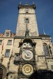 PRAGA, REPUBLIC/EUROPE CHECO - 24 DE SEPTIEMBRE: Cloc astronómico Imagen de archivo libre de regalías