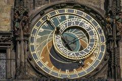 PRAGA, REPUBLIC/EUROPE CHECO - 24 DE SEPTIEMBRE: Cloc astronómico Foto de archivo libre de regalías