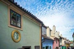 PRAGA, REPUBLIC/EUROPE CHECO - 24 DE SETEMBRO: Pista dourada no PR Fotografia de Stock