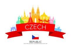Praga, republika czech royalty ilustracja