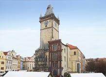 Praga, republika czech, gapienia Mesto kwadrat Urząd Miasta zdjęcie royalty free