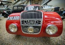 PRAGA, republika czech - MAJ 2017: Samochodowy Jawa 750 1934 roku w Krajowym technicznym muzeum w Praga, Czeski republika obrazy stock