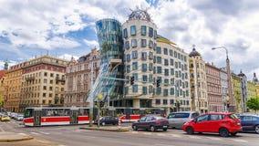 PRAGA, republika czech - MAJ 21: znany na całym świecie tana dom Zdjęcia Stock