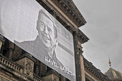 2014/11/17 - Praga, republika czech - portret Czeski prezydent Vaclav Havel Fotografia Royalty Free