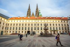 24 01 2018 Praga, republika czech - siedziba Czeski presja Obraz Stock