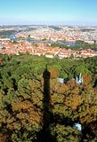 Praga, republika czech - Sierpień 24, 2016: Panoramiczny widok z ma Obrazy Stock