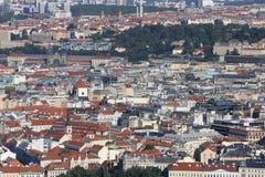 Praga, republika czech - Sierpień 24, 2016: Panoramiczny widok z ma Obraz Stock