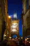 PRAGA, republika czech - 01 2015 Styczeń: Tłum ludzie na Fotografia Stock