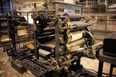 Praga, republika czech - Wrzesień 23, 2017: Stara drukowa maszyna w krajowym technicznym muzeum w Praga, republika czech Prin Zdjęcie Royalty Free