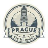 Praga, republika czech znaczek royalty ilustracja