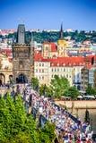 Praga, sguardo fisso Mesto, repubblica Ceca Fotografie Stock Libere da Diritti
