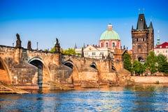 Praga, sguardo fisso Mesto, repubblica Ceca fotografie stock