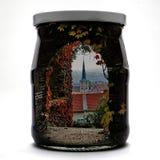 Praga spadku krajobraz w słoju Obrazy Royalty Free