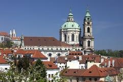 Praga - St. Nicholas katedra Zdjęcie Royalty Free