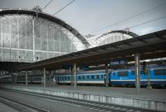 Praga stacja kolejowa obraz royalty free