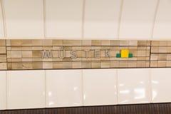 Praga stacja metru obraz stock