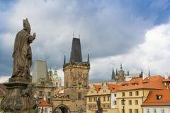 Praga, Stara grodzka architektura Obraz Royalty Free