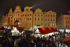 Praga, Stary rynek, boże narodzenie rynki zdjęcie stock
