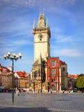 Praga, Stary urząd miasta i kwadrat, obraz stock