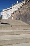 Praga, starzy Grodowi schodki Fotografia Royalty Free