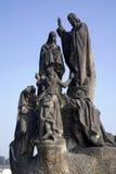 Praga - statua da Charles Fotografia Stock Libera da Diritti