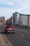 PRAGA, STYCZEŃ - 1: Nowożytny budynek, także znać jako Danci Zdjęcie Royalty Free
