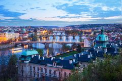 Praga sulla Moldava, repubblica Ceca fotografie stock