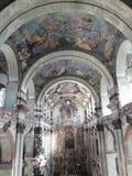 Praga sztuki współczesnej muzealny barokowy koncert odnawił gothic ossuary tkaczów statuy deathes fotografia royalty free