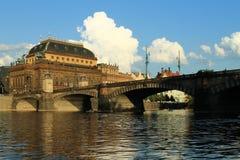 Praga - teatro nazionale Immagini Stock Libere da Diritti