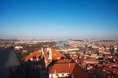 Praga. Tetti rossi. Fotografia Stock Libera da Diritti