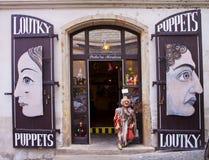 Praga, tienda de la marioneta Fotografía de archivo libre de regalías