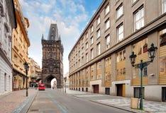 Praga - torre do pó Foto de Stock