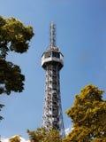 Praga, torre Eiffel, torre dell'allerta di Petrin Fotografia Stock