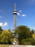 Praga, torre Eiffel, torre dell'allerta di Petrin Fotografie Stock
