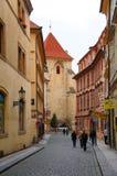 Praga ulica Zdjęcia Royalty Free