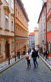 Praga ulica Obrazy Royalty Free
