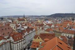 Praga - uma das cidades as mais bonitas em Europa, onde cada construção é um trabalho da arte arquitetónica Foto de Stock Royalty Free