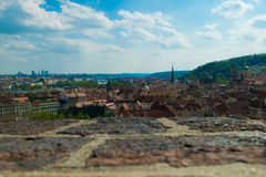 Praga veduta dalla fortezza Fotografia Stock Libera da Diritti