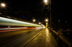 Praga velha na noite Foto de Stock Royalty Free