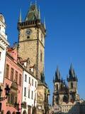 Praga, vieja plaza Foto de archivo