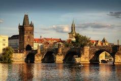 Praga vieja - señal Imagenes de archivo